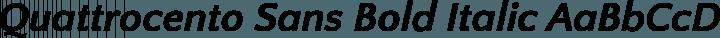 Quattrocento Sans Bold Italic free font
