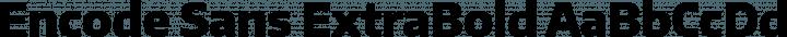 Encode Sans ExtraBold free font