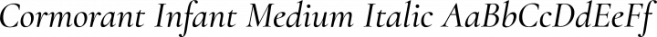 Cormorant Infant Medium Italic free font