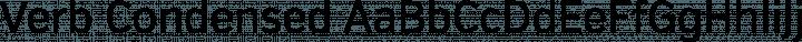 Verb Condensed Regular free font