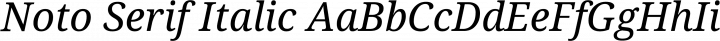 Noto Serif Italic free font