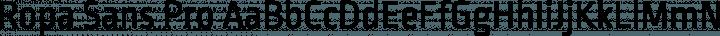 Ropa Sans Pro Regular free font