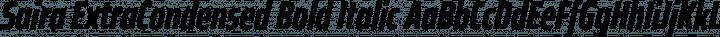 Saira ExtraCondensed Bold Italic free font