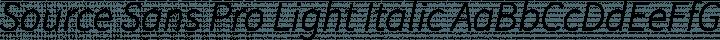 Source Sans Pro Light Italic free font