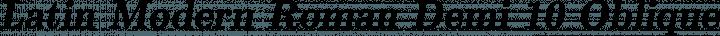 Latin Modern Roman Demi 10 Oblique free font