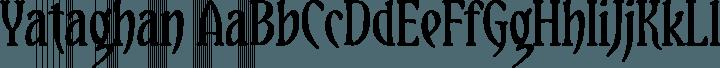 Yataghan font family by Daniel Midgley