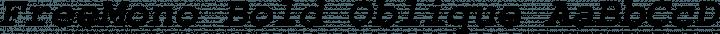 FreeMono Bold Oblique free font