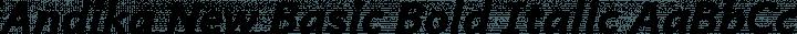 Andika New Basic Bold Italic free font