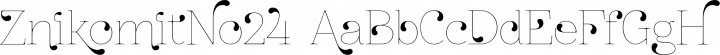 ZnikomitNo24 font family by GLUK fonts