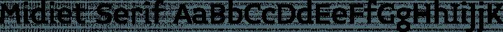 Midiet Serif font family by YOFonts