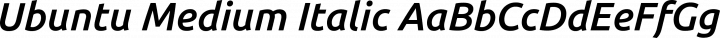 Ubuntu Medium Italic free font