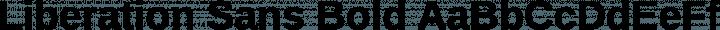 Liberation Sans Bold free font