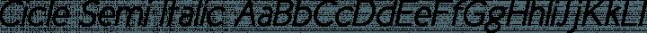 Cicle Semi Italic free font