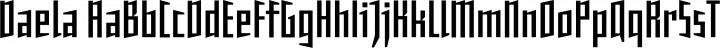 Daela font family by MartinPlus