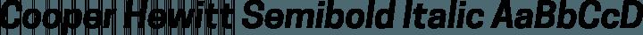 Cooper Hewitt Semibold Italic free font