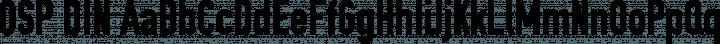 OSP DIN Regular free font