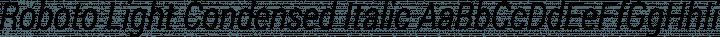 Roboto Light Condensed Italic free font