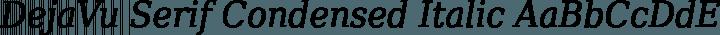 DejaVu Serif Condensed Italic free font