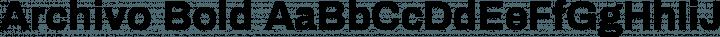 Archivo Bold free font