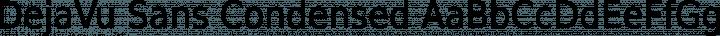 DejaVu Sans Condensed Regular free font