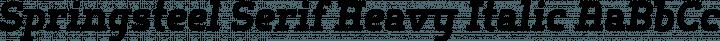 Springsteel Serif Heavy Italic free font