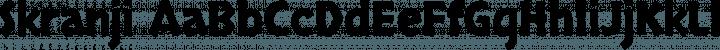 Skranji font family by Neapolitan