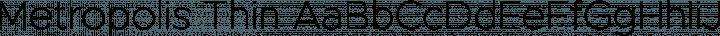 Metropolis Thin free font