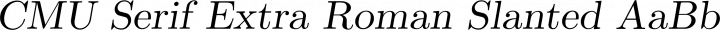 CMU Serif Extra Roman Slanted free font