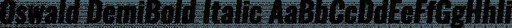 Oswald DemiBold Italic free font