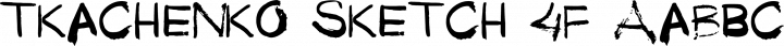 Tkachenko Sketch 4F font family by 4th february