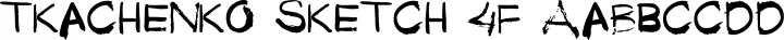 Tkachenko Sketch 4F Regular free font