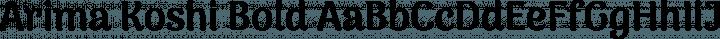 Arima Koshi Bold free font