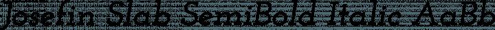 Josefin Slab SemiBold Italic free font
