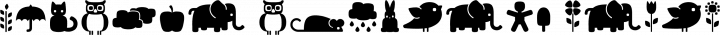 Fredoka dingbats free font