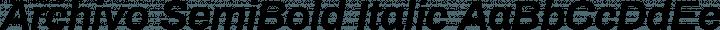 Archivo SemiBold Italic free font