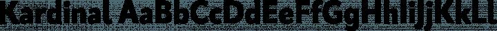 Kardinal font family by Letter Soup