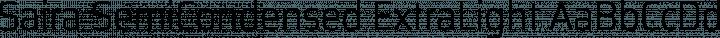 Saira SemiCondensed ExtraLight free font