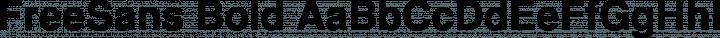 FreeSans Bold free font
