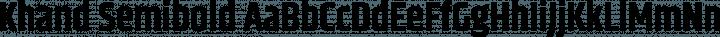 Khand Semibold free font