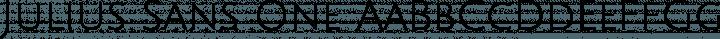 Julius Sans One Regular free font