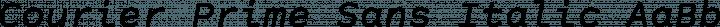 Courier Prime Sans Italic free font