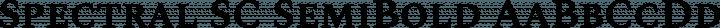 Spectral SC SemiBold free font
