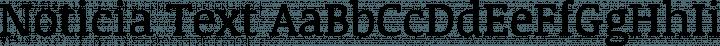 Noticia Text font family by JM Solé