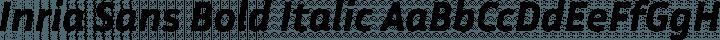 Inria Sans Bold Italic free font