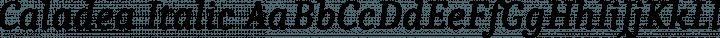 Caladea Italic free font