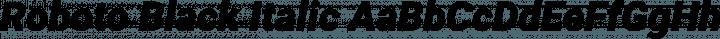 Roboto Black Italic free font