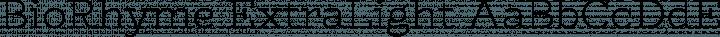 BioRhyme ExtraLight free font