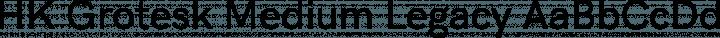 HK Grotesk Medium Legacy free font