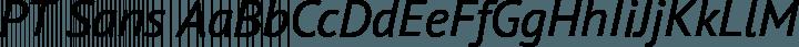 PT Sans font family by Paratype