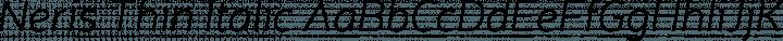 Neris Thin Italic free font